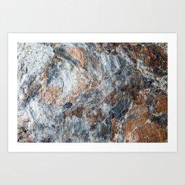Slate Iron Rock Pattern (Norway) Art Print