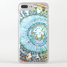 Lime Tree Clear iPhone Case