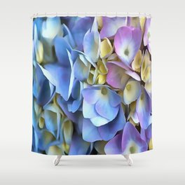 Blue and Pink Hydrangea Flowers  Shower Curtain