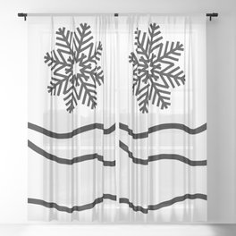 Christmas Trees and Snow Sheer Curtain