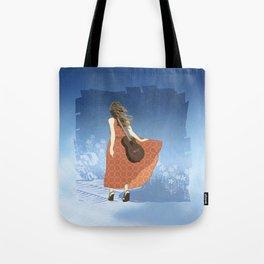 Guitar Girl Tote Bag