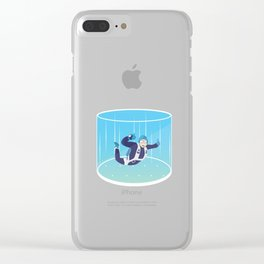 Indoor Skydiving Vertical Wind Tunnel Skydiver Extreme Sports Adventure Gifts Clear iPhone Case