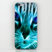 thundercats iPhone & iPod Skins featuring Lightining Cat by Augustinet