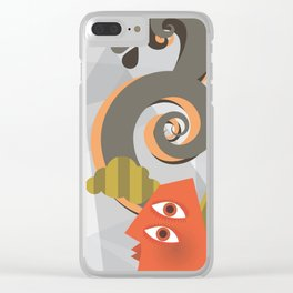 Abstract Mind Clear iPhone Case