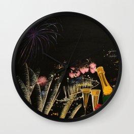 Fogo de artificio fim de ano na Madeira! Wall Clock