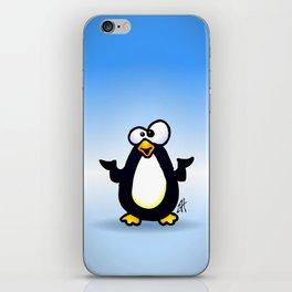 Pondering Penguin iPhone Skin