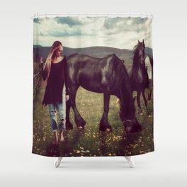 Friesian Morning Shower Curtain