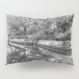 Narrow Boats Little Venice Vintage Pillow Sham