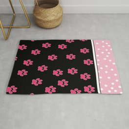 Pink Black Collection: Puppy Rug