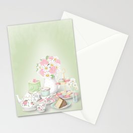 Tea Party Dessert Setting Stationery Cards