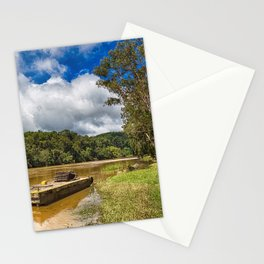 Pontoon on the Barron River Stationery Cards