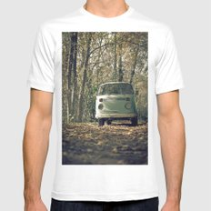 VwT2-n.7 MEDIUM White Mens Fitted Tee