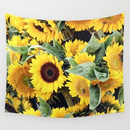 Happy Sunflowers Wall Tapestry