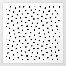 Polka Dot White Background Art Print