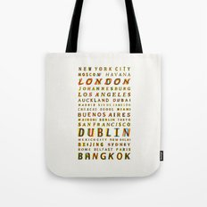 Travel World Cities Tote Bag