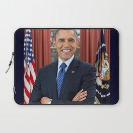 official portrait of Barack Obama Laptop Sleeve