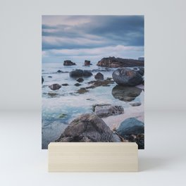Pans Rocks Beach III Mini Art Print