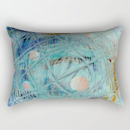 Blue Square and planet Rectangular Pillow