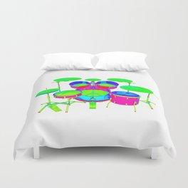 Colorful Drum Kit Duvet Cover