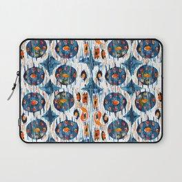 blue circle balinese ikat print mini Laptop Sleeve