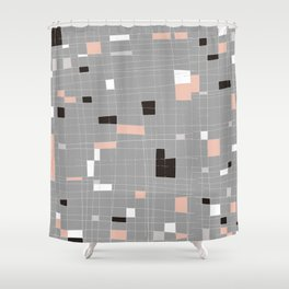 Square abstract Shower Curtain