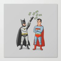 superheros Canvas Prints featuring Super Rich by Ian Byers