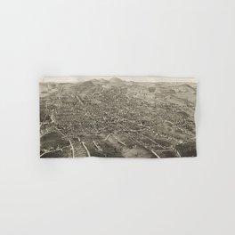 Vintage Pictorial Map of Danbury CT (1884) Hand & Bath Towel