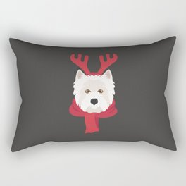 West Highland Terrier Christmas Dog Rectangular Pillow