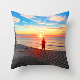 Sheringham Beach, Norfolk, U.K Throw Pillow