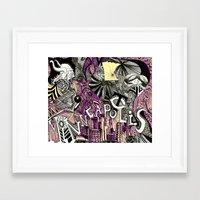 minneapolis Framed Art Prints featuring Minneapolis  by Aubree Eisenwinter