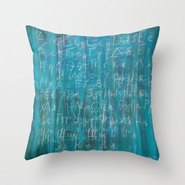 ABC Greek and cyrillic alphabet russian Throw Pillow
