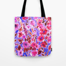 Isla Floral Purple Tote Bag