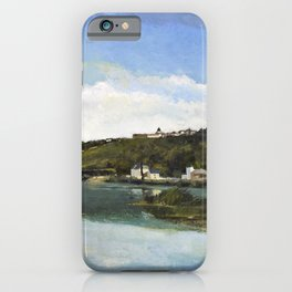 Camille Pissarro - The Marne At Chennevieres - Digital Remastered Edition iPhone Case