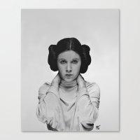 princess leia Canvas Prints featuring Leia by Matthew Greskiewicz