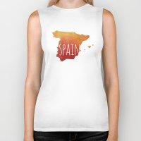 spain Biker Tanks featuring Spain by Stephanie Wittenburg