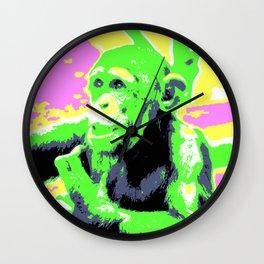 Pop Art Young Chimp Wall Clock