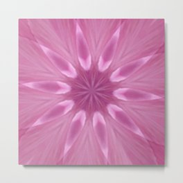 Sweetly Soft Pink Girly Kaleidoscope Metal Print