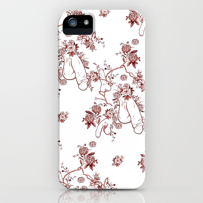 penis pattern red iphone case