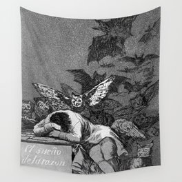 THE SLEEP OF REASON PRODUCERS MONSTERS - FRANCISCO GOYA Wall Tapestry