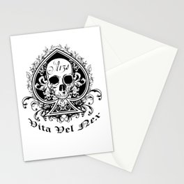 Life or Death Skull and Bones Biker Gang Stationery Cards