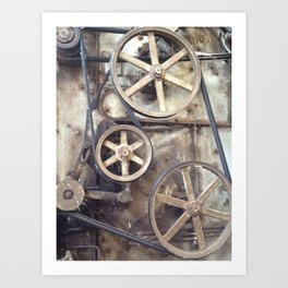 Cotton Gin Cogs and Wheels Art Print