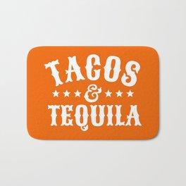 Tacos & Tequila (Orange) Bath Mat