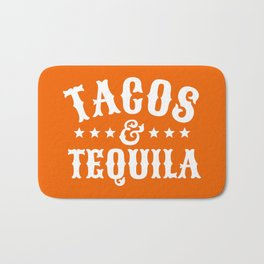 Tacos & Tequila (Orange) Bath Mat