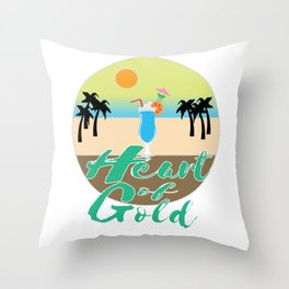 A Great & peaceful mind with a very kind Heart for a valued goodness expression allude Heart of gold Throw Pillow