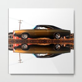 1968 Dodge Charger R/T - Facing the Sun (Full Reflection) Metal Print