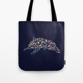 Abstract Dolphin Tote Bag