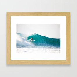 Surfer at Uluwatu II Framed Art Print