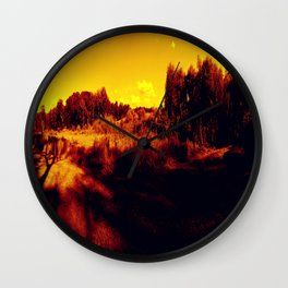 Eyes On Orange Horizons Wall Clock