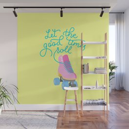 Let The Good Times Roll (Yellow Background) Wall Mural