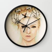 beast Wall Clocks featuring BEAST by Tessa